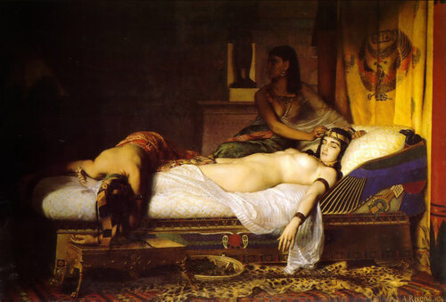 Jean Andr'e Rixens:The Death of Cleopatra