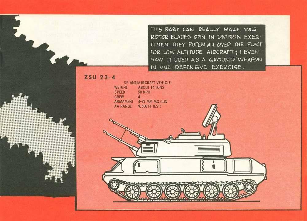 Общий вид зенитной самоходной артиллерийской установки ЗСУ-23-4 Шилка