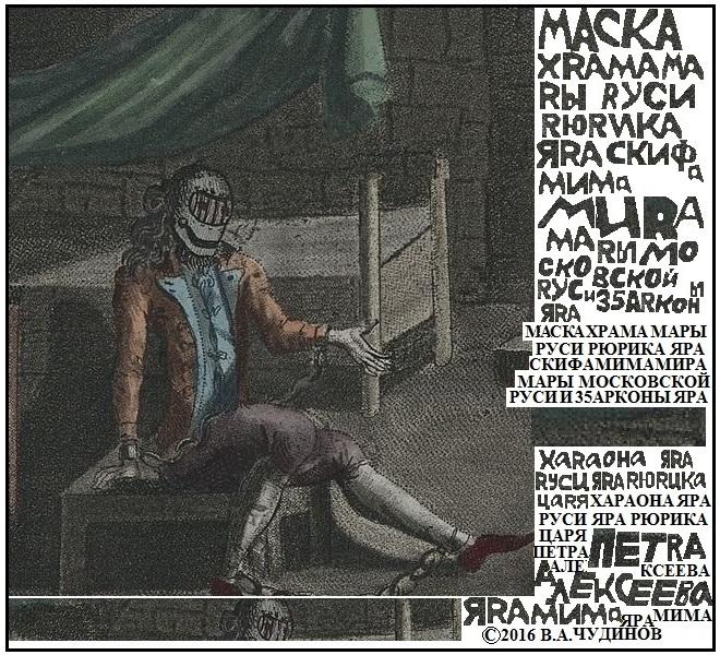 чтение надписей на изображении «Железной маски»