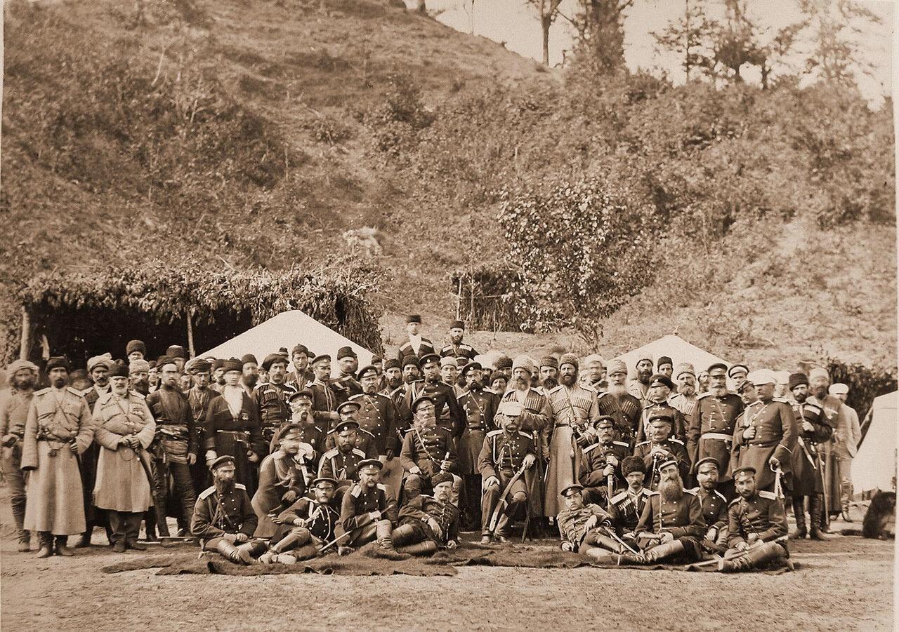 Группа штабистов Рионского отряда