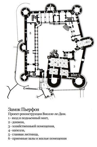 Замок Пьерфон, план