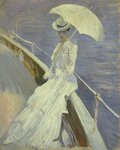 Young woman in white (Mrs. Helleu) 1900