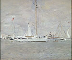 The Yacht Nereus in Roads Cowes. 1900