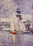 The Harbor at Deauville. 1911