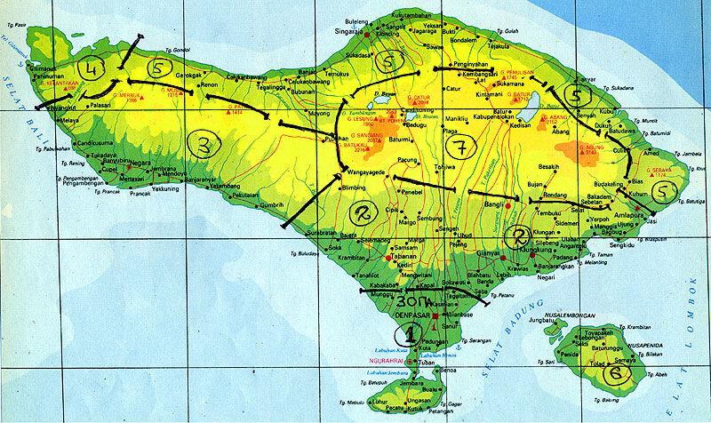 Зоны Бали