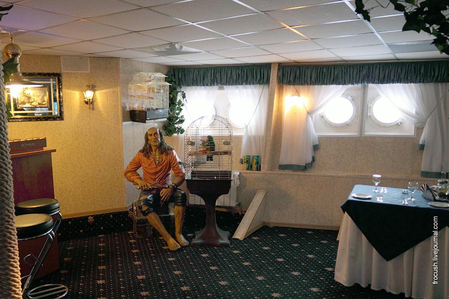 Ресторан в носовой части главной палубы теплохода «Сергей Абрамов»