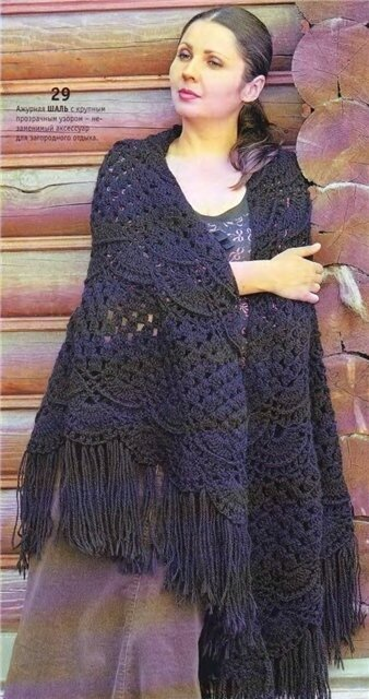 Free Crochet Shawl Diagram : somegwendesigns Virus Shawl This lady wrote out the ...