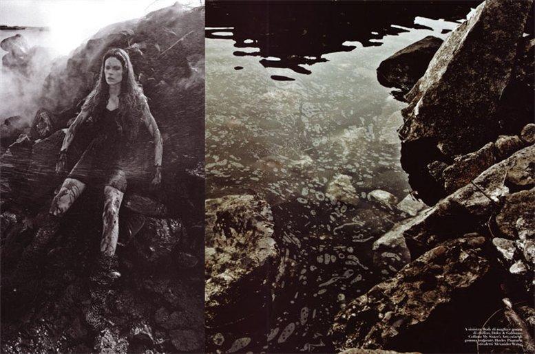 Кристен МакМенами / Kristen McMenamy by Steven Meisel