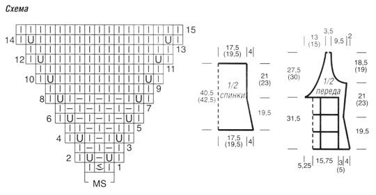 Топ с квадратами схема