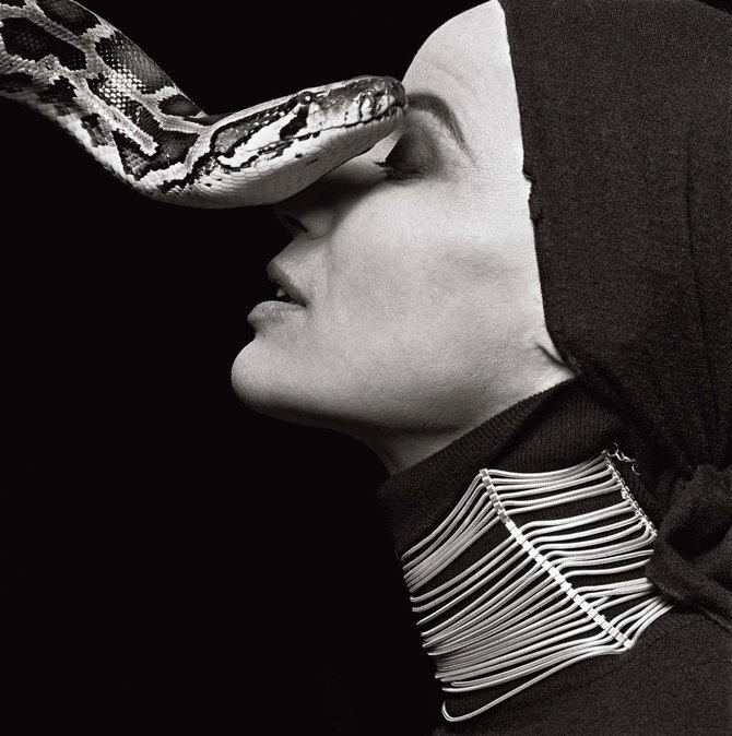 Photographer Michel Comte.Veruschka