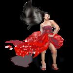 Girls - Red Dress