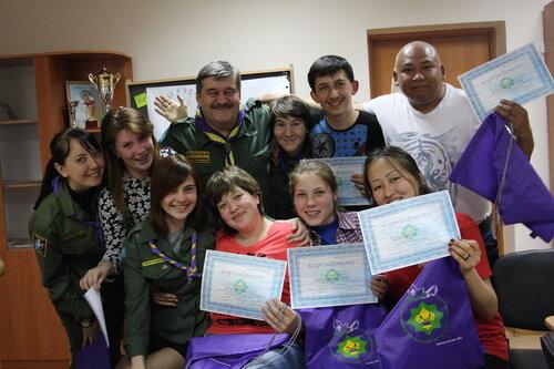 """26-30 апреля 2014 года в г. Павлодар был организован семинар-тренинг """"Введение в скаутинг"""""""