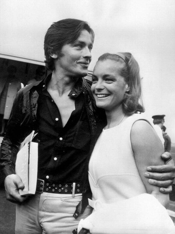 Alain DELON und Romy SCHNEIDER, 1968