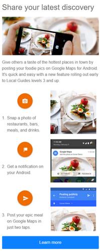 Карты Google предлагают пользователям делиться снимками блюд