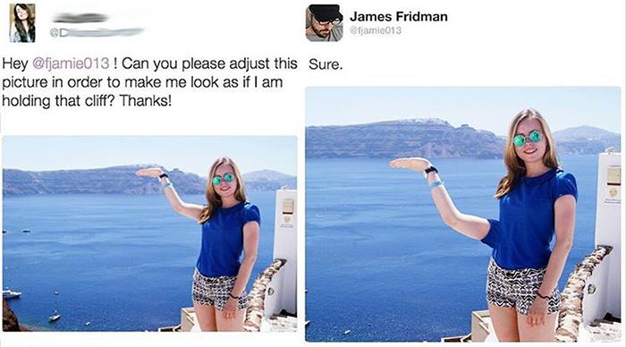 Когда вы просите отфотошопить фотографию, а ретушер оказывается мастером троллинга (10 фото)