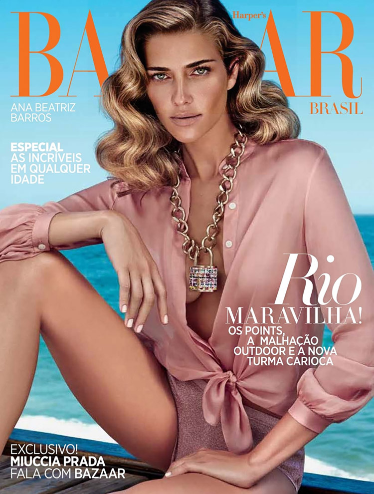 Ана Беатрис Баррос (Ana Beatriz Barros) в журнале Harper's Bazaar Brazil