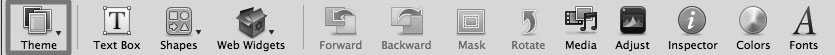 Рис. 9.58. Кнопка Themes предоставляет доступ к стандартным темам, разработанным Apple