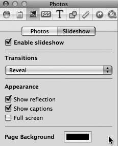 Рис. 9.65. Выбор переходов между фотографиями при просмотре слайд-шоу