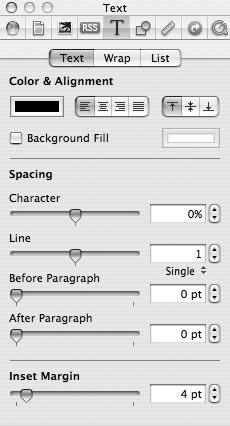 Рис. 9.67. Управление параметрами текстовых полей