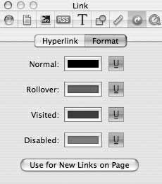 Рис. 9.72. Вкладка Format позволяет управлять стилем ссылок на Web-страницах