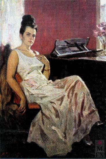 Василий Ефанов. Народная Артистка СССР Г.М. Вишневская. 1963.