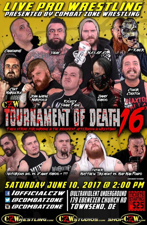 Post image of CZW Tournament Of Death 16