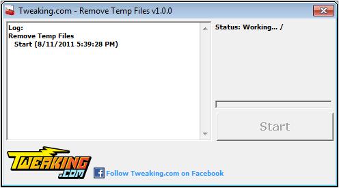 удаление временных файлов