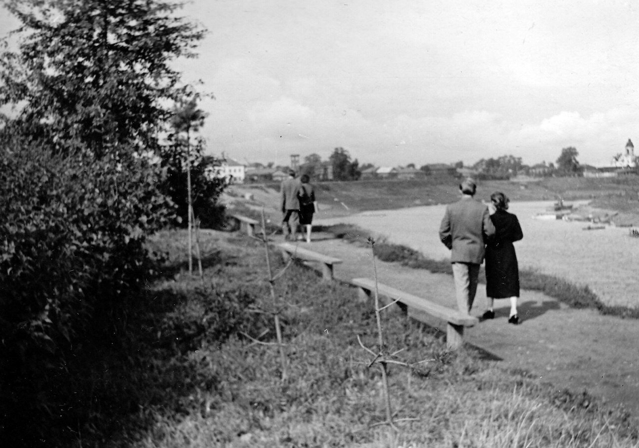 1960-е. Набережная реки Вологды