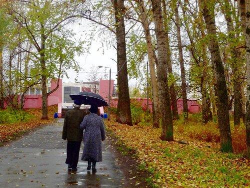 Дождь, осень, двое...