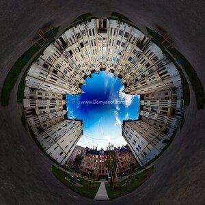 Двор город, Чебоксары, coordinates, микропланета, панорама, HDR