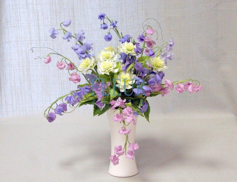 Керамическая флористика.  Цветы из глины.  Fleur-Group.
