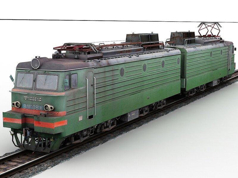 3д модель электровоза ВЛ11м-081.