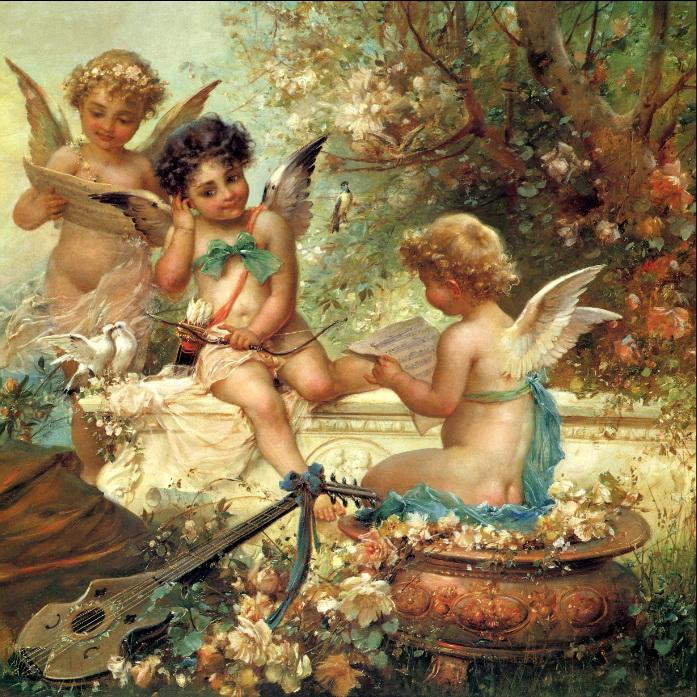 ANGELS Painting of Hans Zatzka
