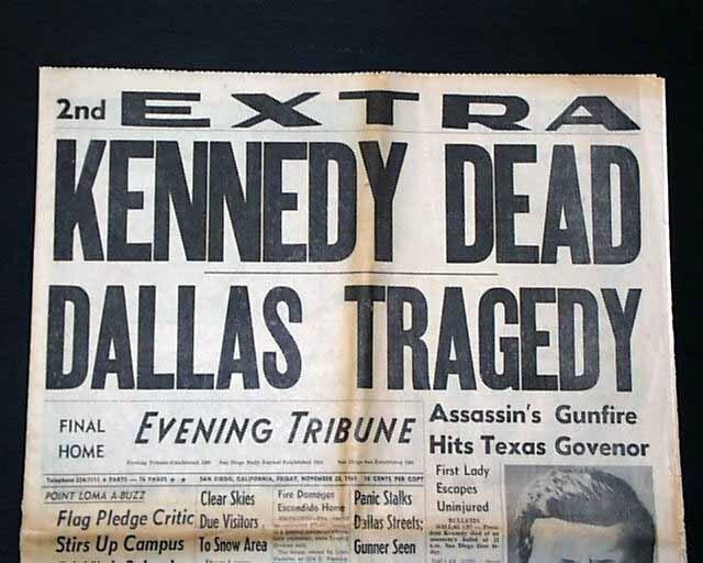 Убийство тридцать пятого президента США Джона Кеннеди совершено в пятницу 22 ноября 1963 года в Далласе (штат Техас) в 12:30 по местному времени.