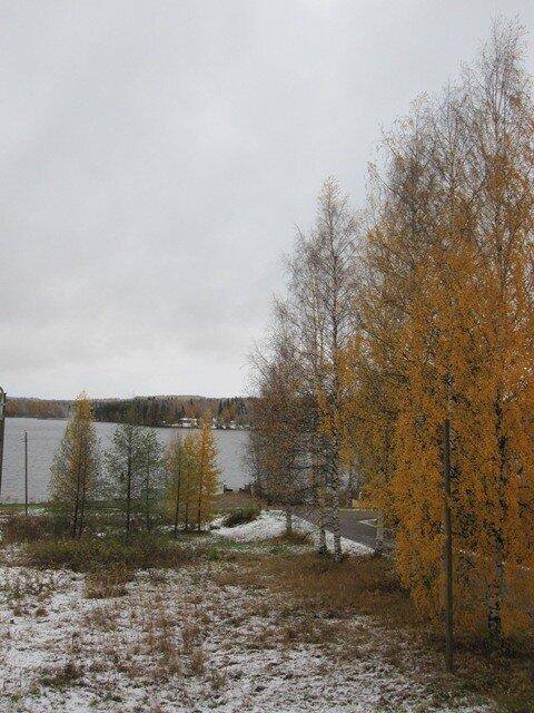 Первый снег в Варкаусе