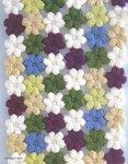 вязание крючком шарф из цветов.