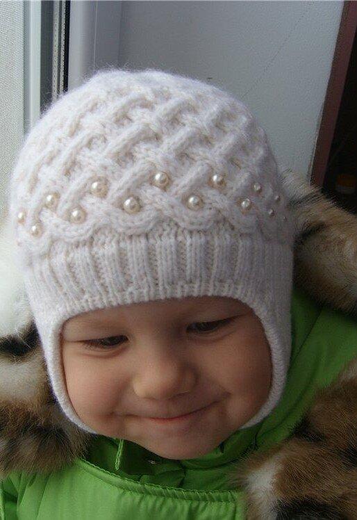 Шапочка для мальчика — жемчужная зима edc78dee5aeee