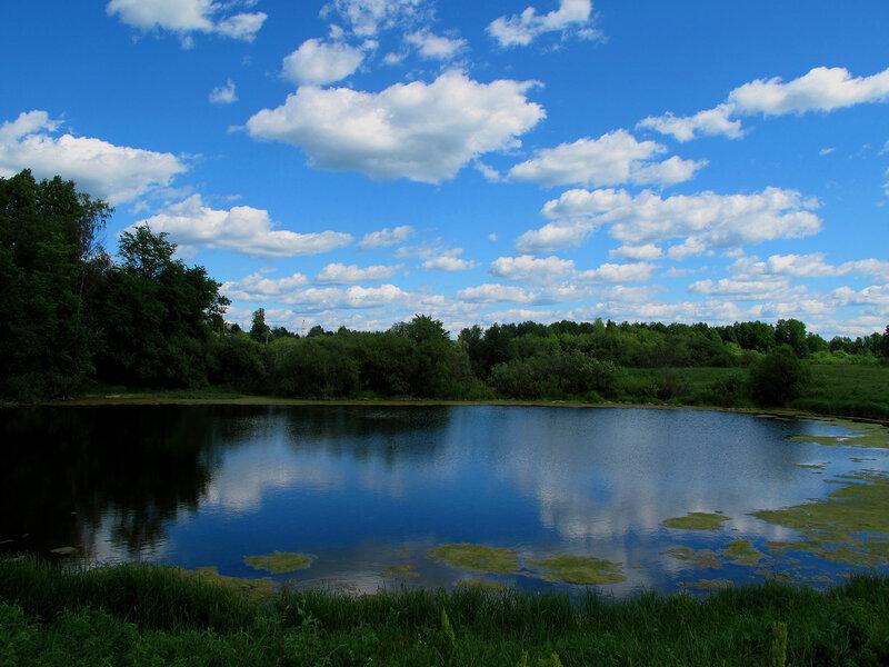 небо в озере