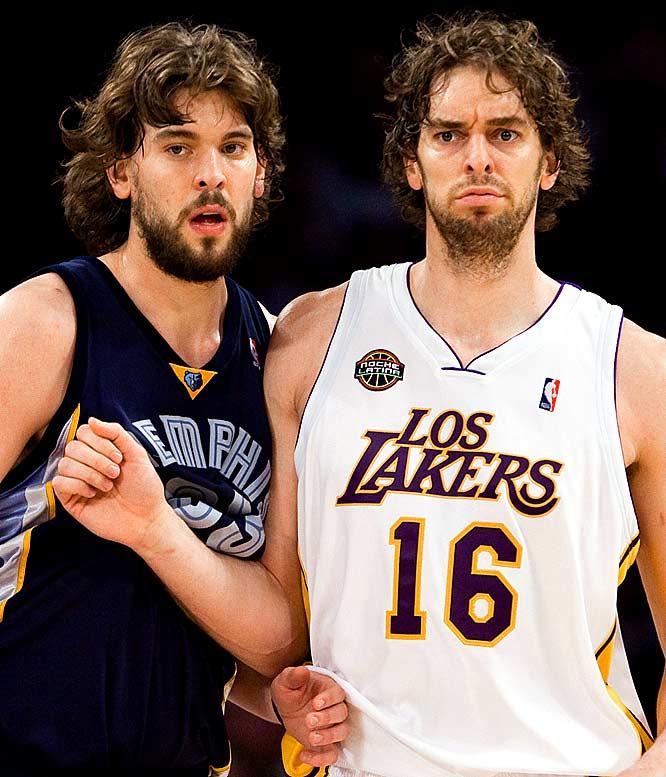 лучшие прически NBA - Marc and Pau Gasol