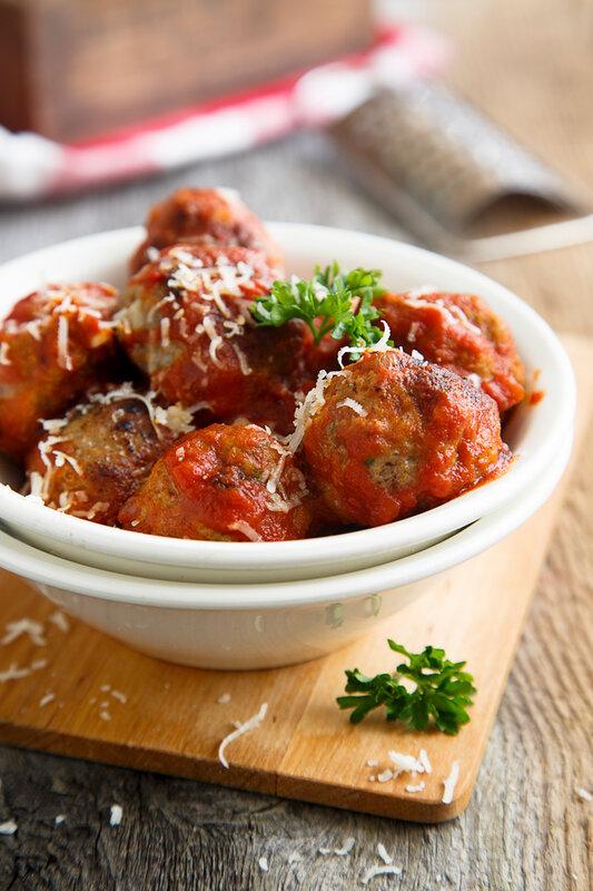 Мясные шарики со спагетти в томатном соусе рецепт