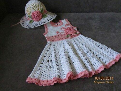 Стран мам вязание крючком детское платье