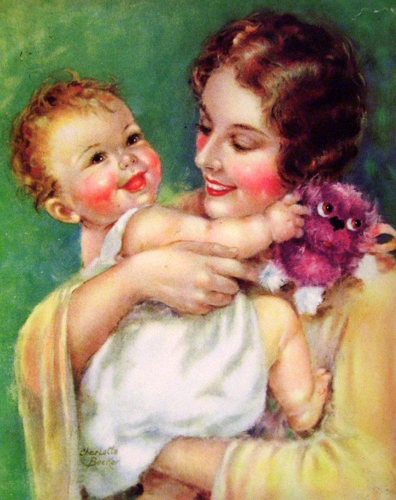 Открытки для детей мама