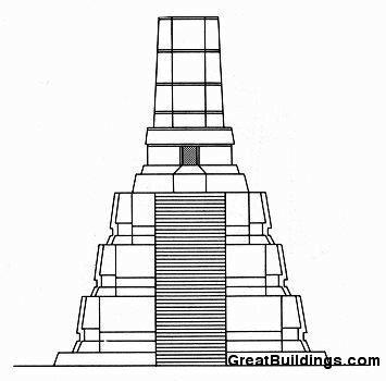 Храм 2, фасад, Тикаль