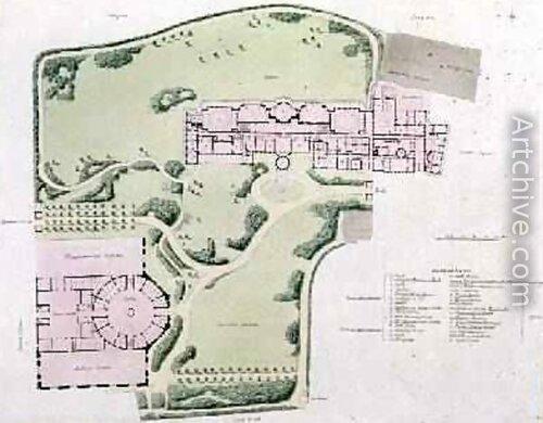 Королевский павильон в Брайтоне, генплан
