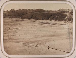 Вид на порог Рубец и кулевые полузапруды,ежегодно устраиваемые на реке Сясь для поднятия воды в Межени.