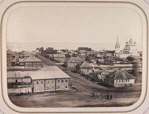 Вид (с вала древнего укрепления) на город;на [втором] плане-строения ведомства путей сообщения и Белое озеро. Белозерск