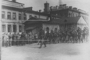 Запасной батальон полка на параде.