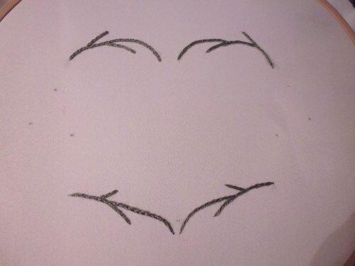 Анютины глазки - вышивка лентами