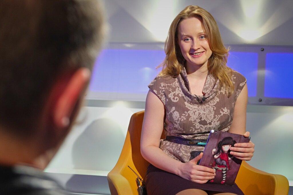 Елена Бурдюгова и Кирилл Готовцев на съемках Блог в деталях