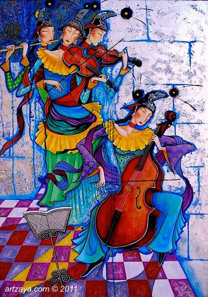 Прекрасные музыкантши